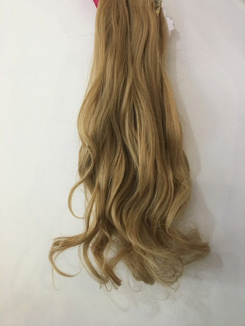 Honey Blonde Curly Clip In 3 Piece Hair Extensions