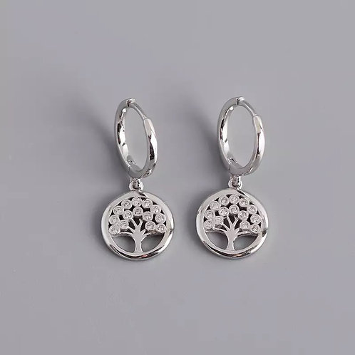 Aria Delicate Sterling Silver Earrings