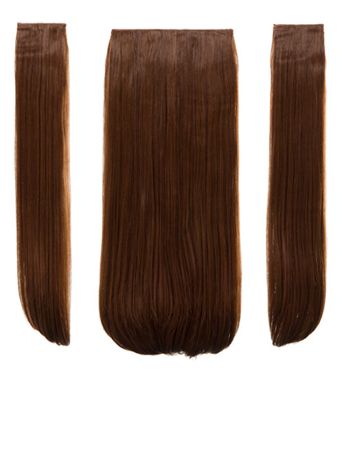 Auburn Straight Clip in 3 Piece Hair Extensions