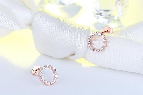 Emily Ear Stud Circle Sterling Silver Earring