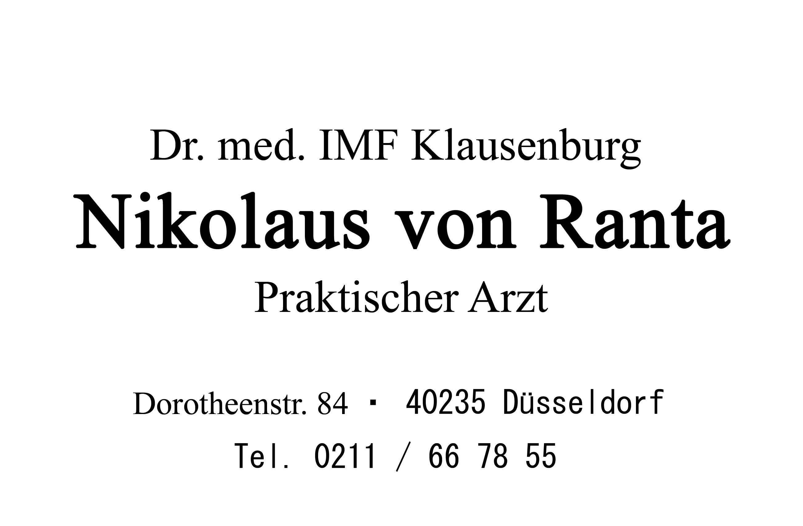 Dr.med.Nikolaus von Ranta