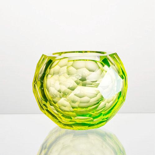 Svícen CUBISM z uranového skla