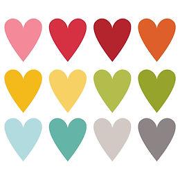 Bright Shine Heart Stickers