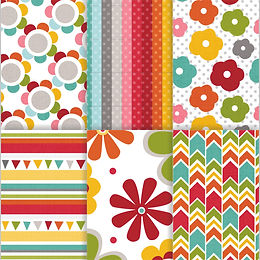 Bright Shine Pattern Papers
