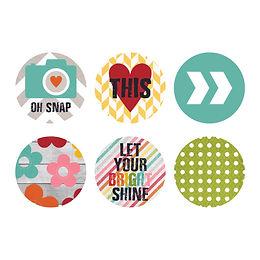 Bright Shine Large Round Stickers 2