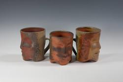 Wood-Fired Face Mugs