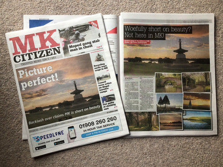 Making the 'front page' at last in Milton Keynes