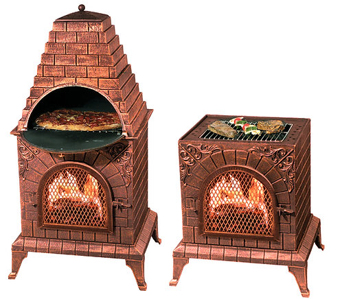 Aztec Allure Chiminea Pizza Oven