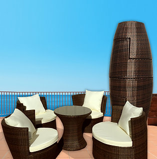 Art Deck-Oh! Geo-Vase 5 pc Patio Set