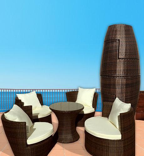 Art Deck-Oh! Geo-Vase 5 pc Patio Set