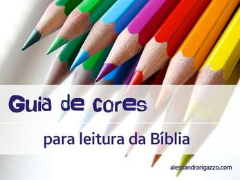 Guia de cores para leitura da Bíblia
