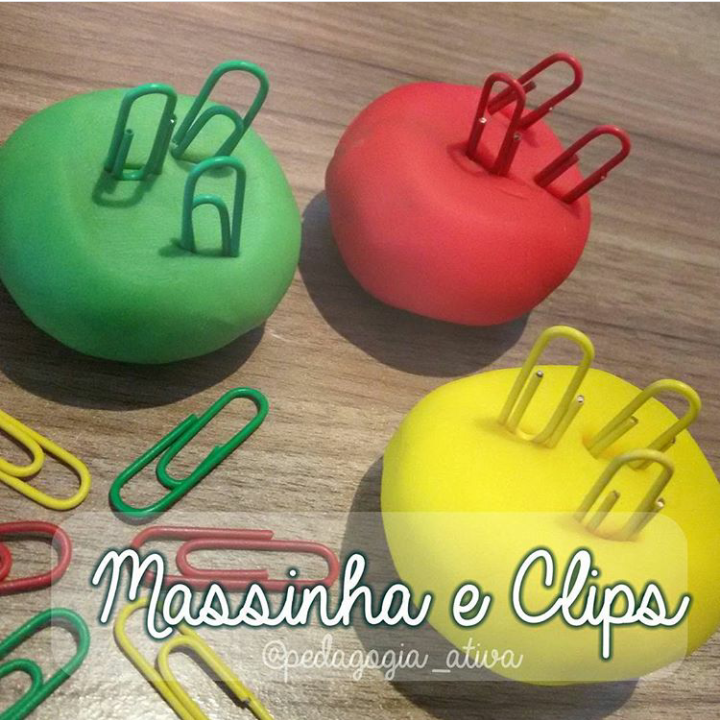 Massinha e Clips