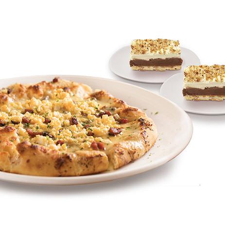 PIZZA CARBONARA & NOCCIOLA CAKE