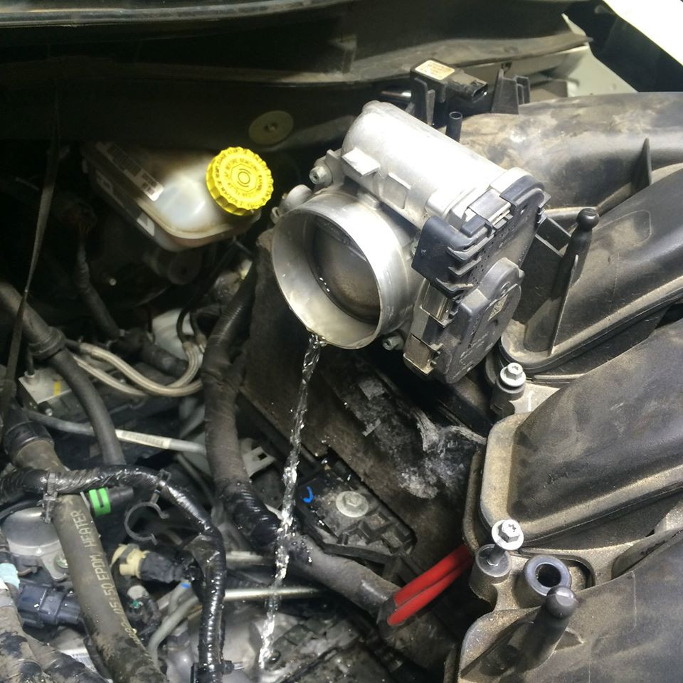 Dodge with Water in Engine after Houston Flood at Professional Auto Care