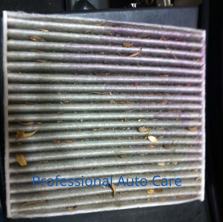 Cabin Air Filter Dirty -  water mark 1