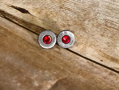 Brass and Gems Earrings