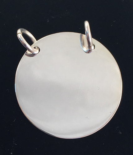 Large Circle Double Hoop Pendant