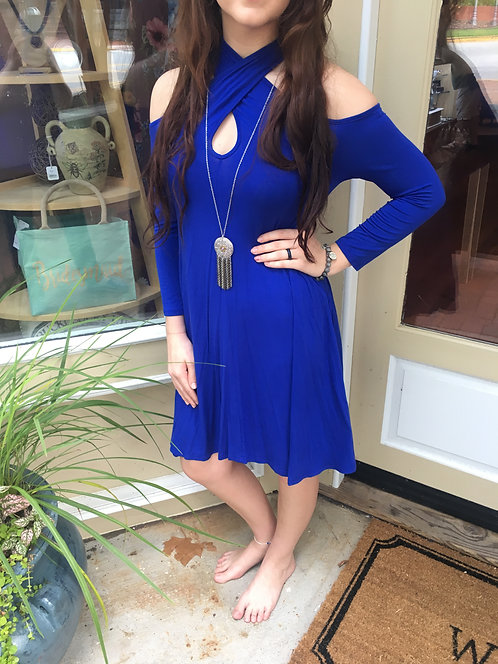 Cross Neckline Dress