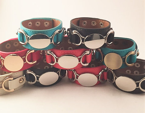 Leather Rounded Cuff Bracelet