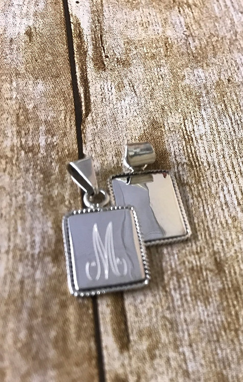 Sterling Silver Rectangle Pendant
