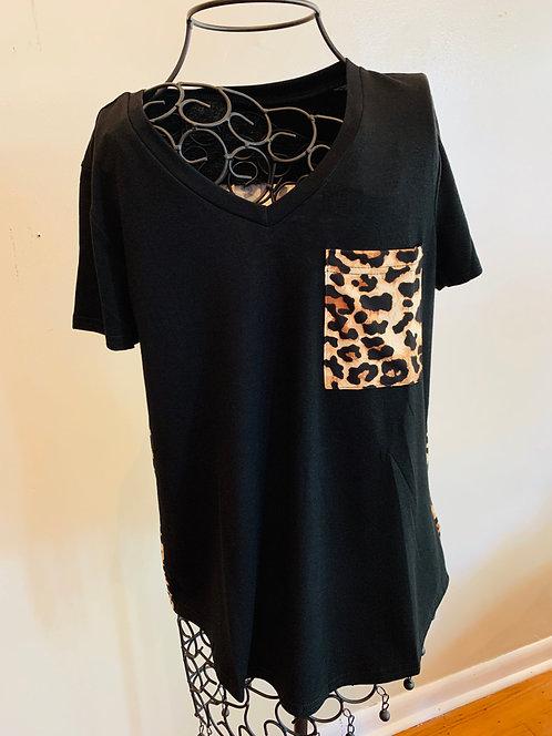 Leopard Print Pocket Top