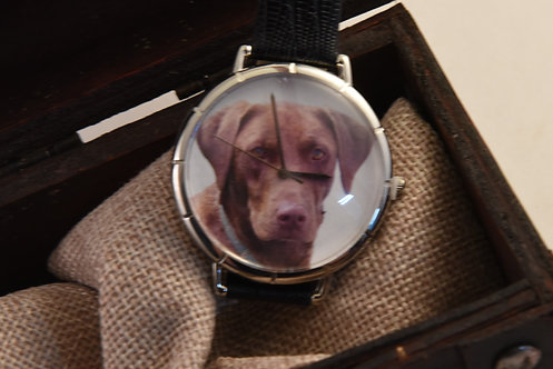 Whimsical Watch Chocolate Lab Large Face