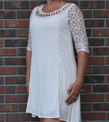 Lace Neckline Dress