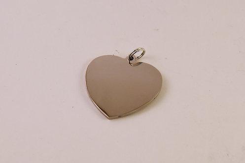 German Silver Heart Pendant