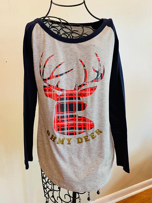 Oh My Deer Baseball T-shirt