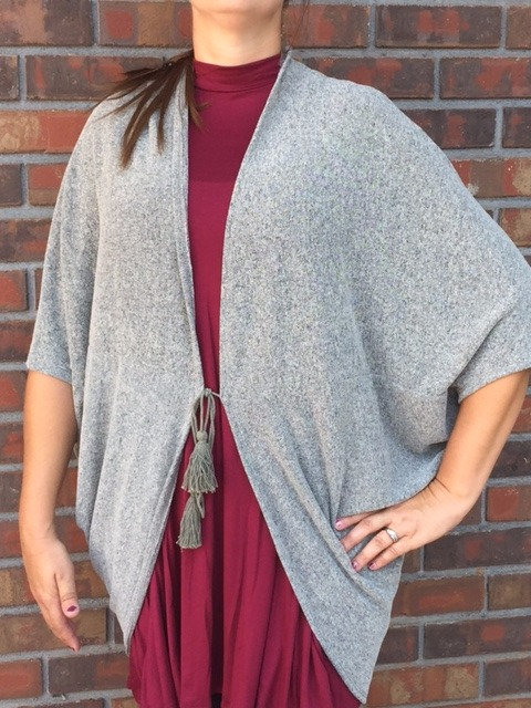 Two Toned Easel Cardigan