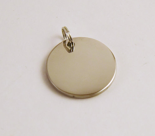 German Silver Round 1 Inch Pendant