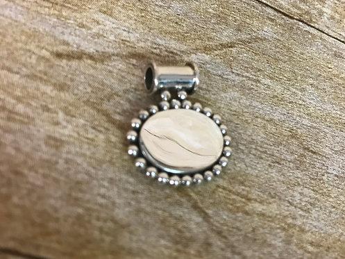 Oval Bead Side Slide Pendant