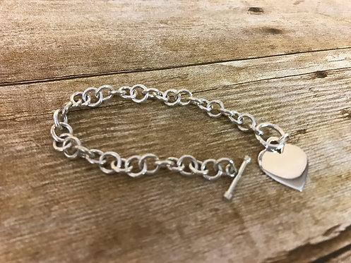 Heart Dangle Bracelet