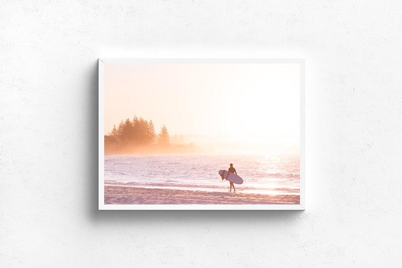 Sunset Surfer | Photographic Print Landscape