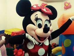 Personagem vivo Minnie