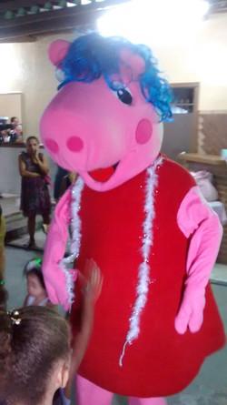 Personagem vivo Peppa pig