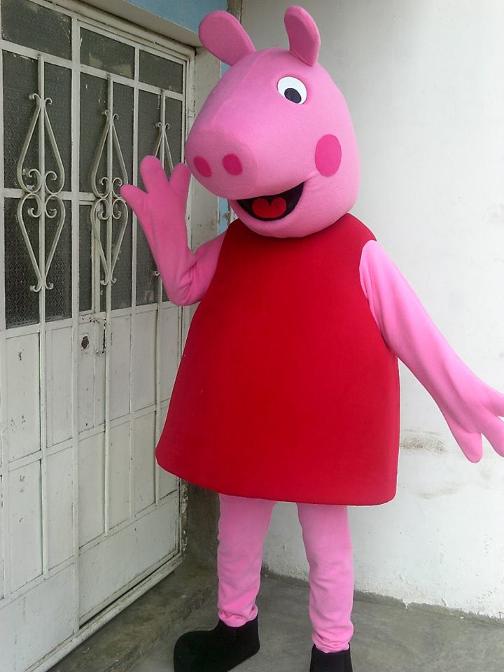 Personagem vivo Peppa Pig