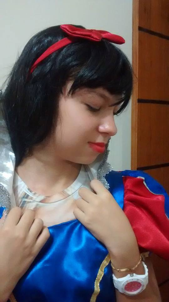 Personagem vivo Branca de neve