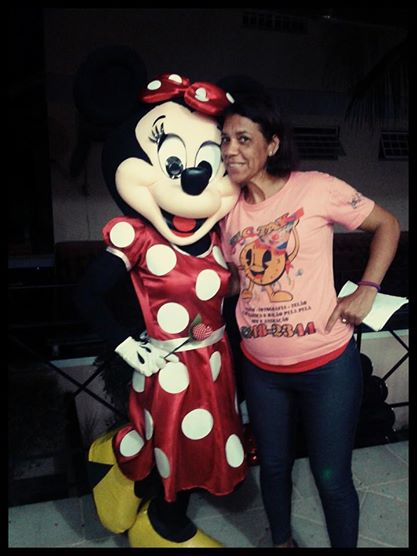 Personagem vivo Minnie