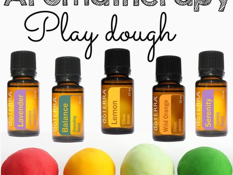 Summer Fun Play Doh with Essential Oils