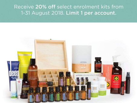 August Amazing Offer in Europe SAVE 20% off Selected Enrolment Kits :)