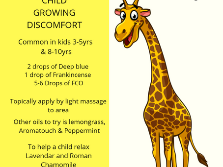 Kids who suffer with growing discomfort