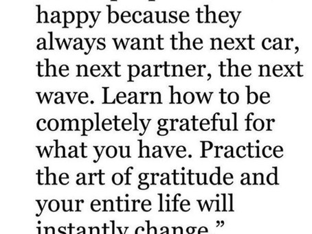 Gratitude is Key – I Can't believe the changes I have experienced