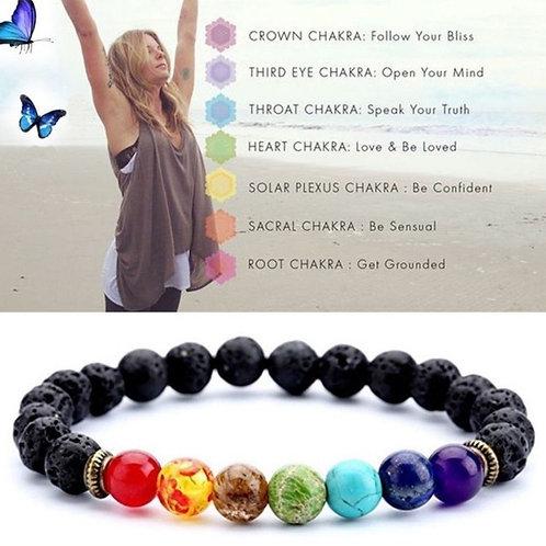 Essential Oil Chakra Difusser Bracelet