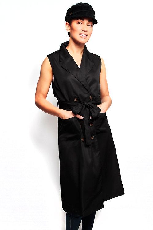 Black Annie Vest Trench