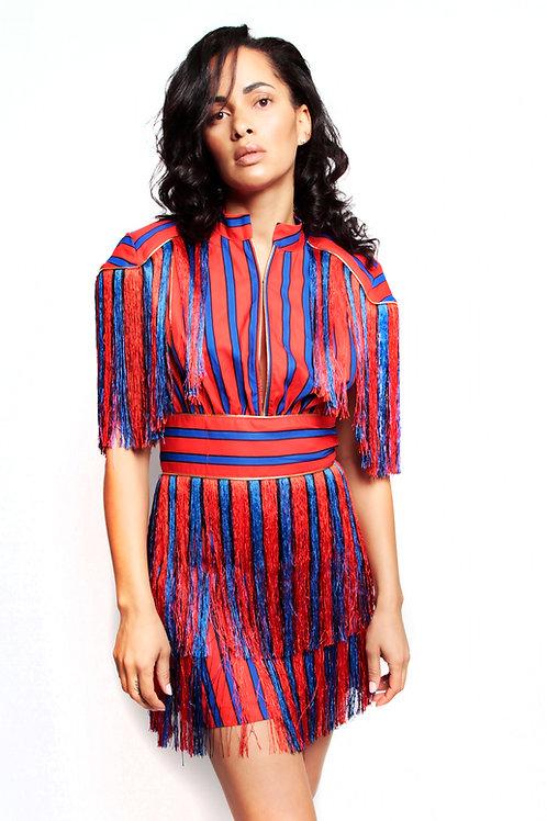 Candy Striper Fringe Dress