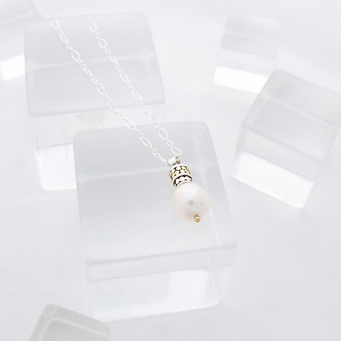 Be A Light Small Pearl Necklace