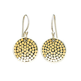 Be A Light Concave Disc Earrings (Small)