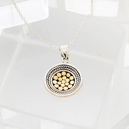 Be A Light French Wrap Concave Disc Pendant (Small)