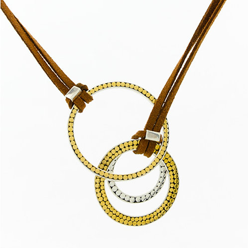 Lariat Triple Life Circles Necklace